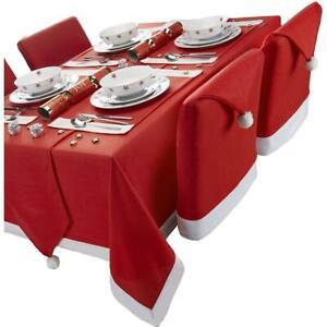 Celebright Christmas Santa's Tablecloth & Chair Covers - Novelty Xmas Table Fun