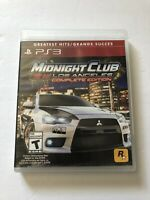 Midnight Club Los Angeles Complete Edition Sony PS3 TESTED (Rockstar, 2009)