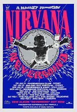 Kurt Cobain & Nirvana *NeverMind* Australian Tour Poster 1992  13x19 Size