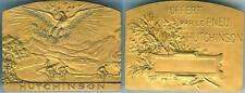 Médaille de table - HUTCHINSON offert par le pneu d=65x50mm doré BRANGIER sculpt