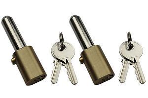 Roller Shutter Bullet Pin Locks Oval Style (1 Pair On The Same Key) 4 Keys