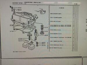 Peugeot 604 504 cabriolet v6 prv 2664cc carburettor float weber twin chok 141017
