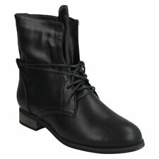 Lace Up Synthetic Block Ankle Women's Boots