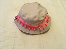 New !! With Tags Pumpkin Patch Baby Girls Sun Hat  Size XS 6-12 /47cm