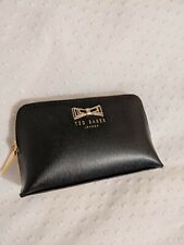 Ted Baker Real Leather Monochrome Coin Purse Black & Cream Zip Up