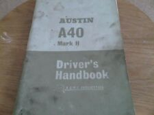 Austin A40 Mark 2 II Farina Drivers Instructions Owners Handbook Guide Manual