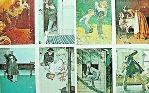 NORMAN ROCKWELL 1970's PRINTS 8, THE ADVENTURES OF HUCKLEBERRY FINN & TOM SAWYER