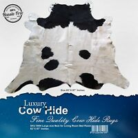 "New Cowhide Rugs Area Rug Cow hide Skin Leather Size (62""x57"") Cowhide SKU 3004"