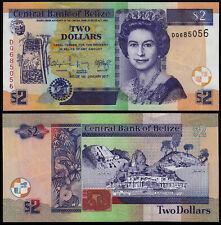 BELIZE 2 DOLLARS (P66) 2017 QEII UNC