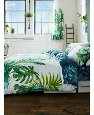 Palm Tree Tropical Quilt Cover KING Green Palm Leaf Bedding Cover Cotton Blend