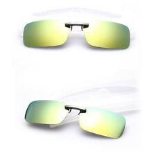Clip-on Polarized Sunglasses Driving Day Night Vision Glasses Flip-up Lens-UV400