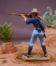 45mm Metal Artefacts Trooper Standing  Firing 7th Cavalry Beautifully Painted