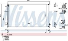 Kondensator, Klimaanlage NISSENS 940502
