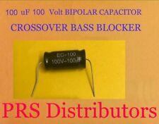 Capacitor 100 uF 100 Volt BIPOLAR BASS BLOCKER SPEAKER TWEETER CROSSOVER 1 Piece