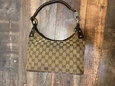 Authentic Vintage GUCCI GG Monogram Canvas Leather Shoulder Hand Bag Purse