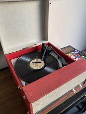 More details for dansette viva vintage record player - red & cream