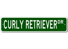 Curly Coated Retriever K9 Breed Pet Dog Lover Metal Street Sign - Aluminum