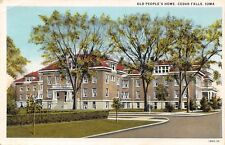 Cedar Falls IA Turn in Here to Go to the Old People's Home 1930 Postcard