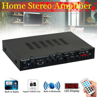 2000W 5CH 220V Bluetooth Stereo Surround Amplifier System AV Power For Karaoke