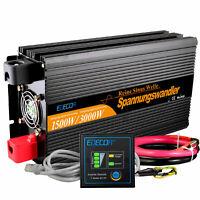 EDECOA 1500W 3000W 12V to 220V Onda Sinusoidale Pura Pure Inverter DC to AC
