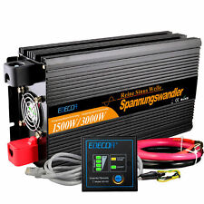 EDECOA 1500W 3000W 12V to 220V Onda Sinusoidale Pura Pure Inverter DC to AC