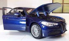 Escala 1:24 ALFA ROMEO Giulia 2017 de Metal Detallado modelo V6 VELOCE Burago