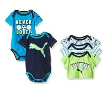 PUMA Baby Boys' 5-Pack Bodysuit Size 0/3 Months New With Tag