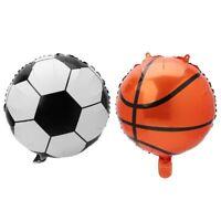 "10Pcs 18"" Football Basket Aluminum Foil Balloon Soccer Metallic Mylar Balloons"