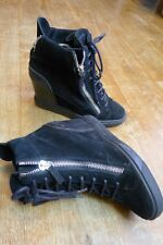 Giuseppe Zanotti black wedges ankle high boots size EU 39.5, UK 6.5