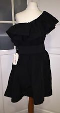 Lanvin for h&m abito * one shoulder dress * Nero Taglia 42 UK 16 US 12