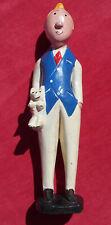Tintin & Milou  - Statue En Bois  !