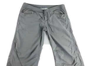 ExOfficio Womens Insect Shield Bugs Away Hiking Trail Roll Up Pants Gray Sz 6