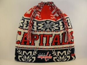 Washington Capitals NHL Reebok Knit Hat Tassel Beanie