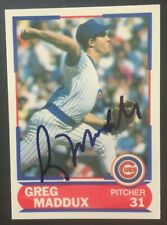 1989 Greg Maddux SIGNED Score Young Superstars Card Chicago Cubs EARLY SIG HOF