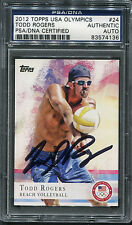 2012 Topps Olympics Todd Rogers #24 Signed Autograph Psa/Dna
