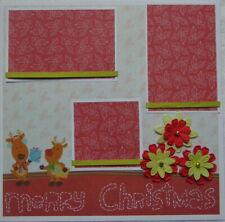 MERRY CHRISTMAS 12X12 PREMADE SCRAPBOOK PAGE LAYOUT - TONYA