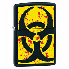 Zippo Windproof Lighter Biohazard Logo, Hazardous 24330, New In Box