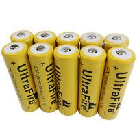 2/4/6/8/10x 18650 Batteries 9800mAh 3.7V Li-ion Rechargeable Battery Flashlight