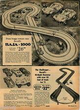 1970 ADVERT Revell's Baja 1000 Hi Bank Raceway Tyco HO Scale Electric Train Sets