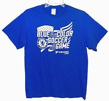 "Sz L T-Shirt CHELSEA FOOTBALL CLUB ""Blue is the Color, Soccer is the Game"" Delta"