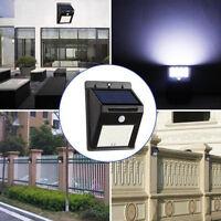 20LED Solarlampe Wandlampe mit Bewegungsmelder LED Außenleuchte PIR Sensor Lampe