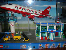 """""""LEGO-CITY"""" 3182  Ausstellungsvitrine  Flughafen mit großem Flugzeug"""