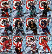 1996-97 TOPPS PICKS TOP SHELF INSERT CARDS - PICK SINGLES FINISH SET Lot Rare BV