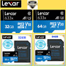 BEST 633x LEXAR 32GB U1& 64GB U3 V30 Cl.10-95MB/s, micro SD Memory CARD+/-ADAPT