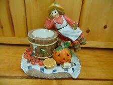 Partylite Scarecrow Votive Holder Fall Harvest Pumpkin Halloween Thanksgiving