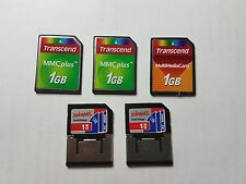 5 x - MMC 1GB - Dual Voltage Multimedia Card - Mixed manufacturer