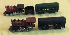 Vintage Cast Iron Train Set 2 Cars 1 Tender & 2 Engine PRR Washington 44