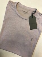 """ALL SAINTS SPHINX PINK """"TONIC PANEL"""" LOGO CREW S/S T-SHIRT TOP - XS - NEW & TAGS"""