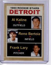 Detroit Tigers '53 Rookie Stars Al Kaline - Reno Bertoia - Frank Lary rare card