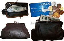 Lot of 3 New Women's Leather Change Purse Coin bag Wallet bag Hand Coin case BN